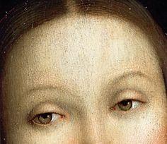 IL PERUGINO - La Vergine col bambino con i Santi San Giovanni battista e Caterina d'Alessandria, dettaglio - 1495-1500 - olio su tavola - Musée du Louvre