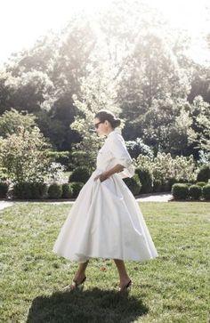 Платье-рубашка невесты в ретро-стиле