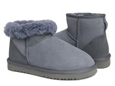 7f7c26b907f0 UGG Office Retailer Shop 2017 New Cheap grey boots classic mini 5854 For  Sale - Storm as picture Twinface Sheepskin UGG Wood Button Nylon Binding  UGGpure ...