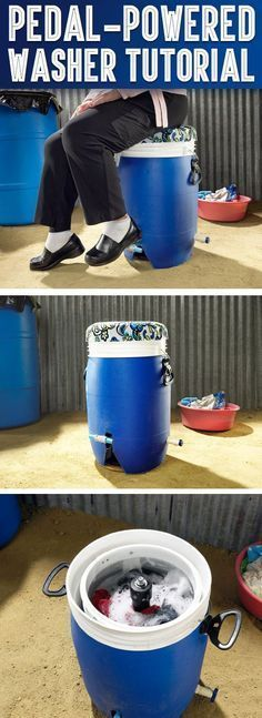 Pedal-Powered Washer Needs No Electricity and Costs Only $40 … #prepperprojects