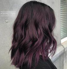 Subtle Black Purple Hair