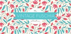 Vintage Fuschia—beautiful wallpaper colors & style—love pretty prints/papers❣ Elizabeth Olwen - Society6