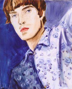 "contemporary-art-blog: "" Elizabeth Peyton, Flower Liam, 1996 """