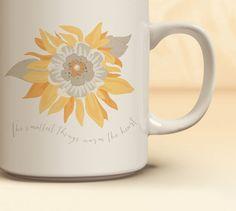 Sunflower Coffee Mug | Quick Ship! Sunflower Mug | Coffee Mug Available in 11 oz., 15 oz. | Gift for Her
