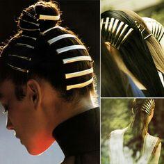 Image result for metal locks for hair