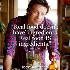 Just keep it real! www.foodmatters.com #foodmatters #FMquotes