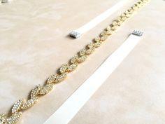 Gold Bridal Sash Gold Rhinestone Sash Belt by FashionaryDesign