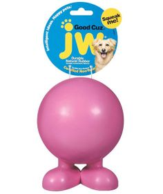 natural rubber ball with feet. A resilient and unique toy with a tough squeaker and a formidable bounce. Made of non-toxic durable rubber. Best Dog Toys, Unique Toys, Pet Treats, Happy Animals, Dog Supplies, Dog Mom, Dogs And Puppies, Things That Bounce, Your Pet