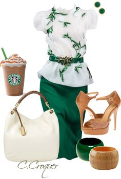 """Starbucks"" by ccroquer ❤ liked on Polyvore"