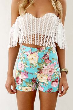 The top is a little revealing, but I'm in love with the shorts!