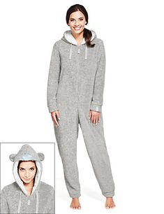 Hooded Tatty Teddy Cosy Fleece All-in-One - Marks & Spencer Tatty Teddy, My Christmas List, Christmas Nails, Playsuit, All In One, Hoods, Onesies, Pajama Pants, Jumpsuit