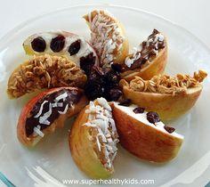 Apple wedges- dessert or snack from super healthy kids #nocookmeals #healthysnacks
