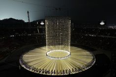 The massive task of video mapping the Opening Ceremony for the 2018 Olympic Winter Games was done by a team from Panasonic, led by Patrice Bouqueniaux of ETC Au Miss Universe Gowns, Olympics Opening Ceremony, Pyeongchang 2018 Winter Olympics, Winter Games, Olympic Games, Videos, Fountain, Things To Come, Map