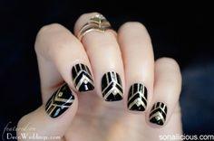 Art Deco Manicure || 1920s Nails || Deco Weddings
