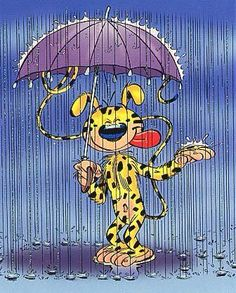 Marsupilami sous la pluie