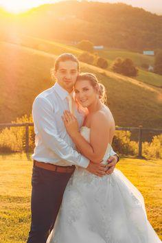 "Dylan and Abby's Wedding Day! Got to capture a few ""golden hour"" shots! Vineyard Wedding, Golden Hour, Shots, Wedding Day, Wedding Photography, Wedding Dresses, Fashion, Pi Day Wedding, Wedding Shot"