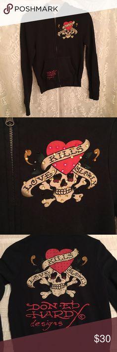 Ed hardy by christian audigier jacket size small. Ed hardy by christian audigier jacket size small! Ed Hardy Jackets & Coats