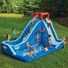 Inflable Slam N Slide Little Tikes 7400 Water Slides Backyard, Backyard Water Parks, Pool Party Kids, Kid Pool, Little Tikes, Outdoor Toys, Outdoor Fun, Blow Up Water Slide, Kids Den