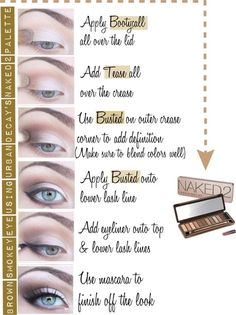 NAKED 2 PALETTE HOW TO | Glitz and Glam Girls | eHow @Amanda Snelson Snelson Snelson Snelson Snelson Sutcliffe maybe for Brooke's wedding?  I have these we can practice