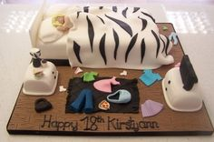 Messy bedroom cake By PaulineG on CakeCentral.com