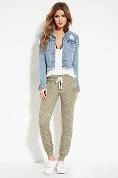 Marled French Terry Sweatpants    - 2000173786