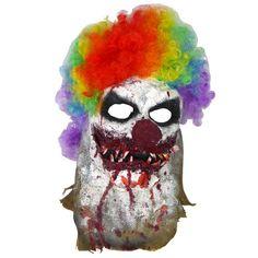 Handmade in the USA. Scarecrow Mask Burlap Halloween Killer Clown