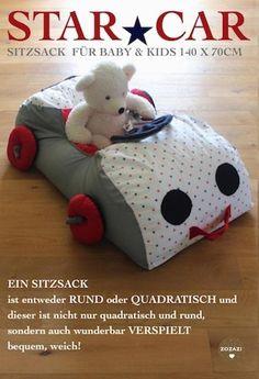 Für Kinder - Sitzsack XXL ★AUTO - ein Designerstück von Babika-Zoe bei DaWanda