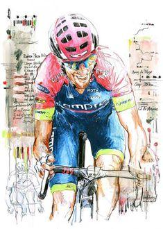 Ruben Plaza Molina Lampre-Merida by Horst Brozy  mtb  mtb  vector Cycling dea5b82f3