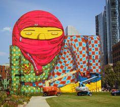 amazing graffiti by Os Gêmeos #art #graffiti