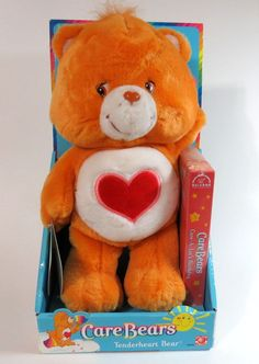 Care Bears Tenderheart Bear Plush W/VHS Video Tape By Play Along 2002,New In Box #PlayAlong #AllOccasion