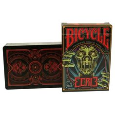 Bicycle Eerie Playing Cards features 56 Custom Collectable Playing Cards - Printed by the USPCC. Since the dawn of civilization, dark lore has been passed down through countless generations, haunting our thoughts, lending faces to our deepest Dark Legends, Bicycle Deck, Magic Illusions, Bicycle Playing Cards, Card Tricks, Magic Book, Casket, Deck Of Cards, Werewolf