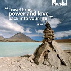 """""""Travel brings power and love back into your life."""" ~ Rumi #quotes #travel"""