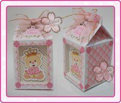 Caixa de Leite com Visor Ursa Princesa
