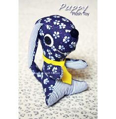 Sewing: Puppy Plush Toy {Tutorial & Pattern} - at Craft Passion, so cute puppy, have to try this!