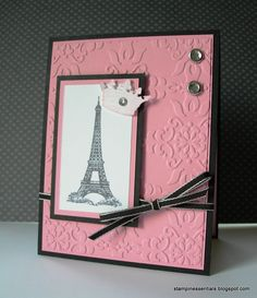 Stampin' Up! Artistic Etchings stamp set with Vintage Wallpaper textured embossing folder