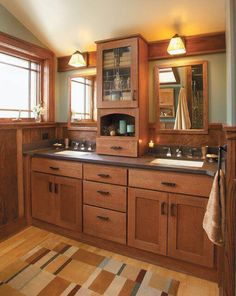 Decorated bathrooms: 100 ideas with decoration trends - Home Fashion Trend Craftsman Style Bathrooms, Cottage Style Bathrooms, Chic Bathrooms, Amazing Bathrooms, Craftsman Interior, Small Bathrooms, Gray And White Bathroom, White Vanity Bathroom, Master Bathroom