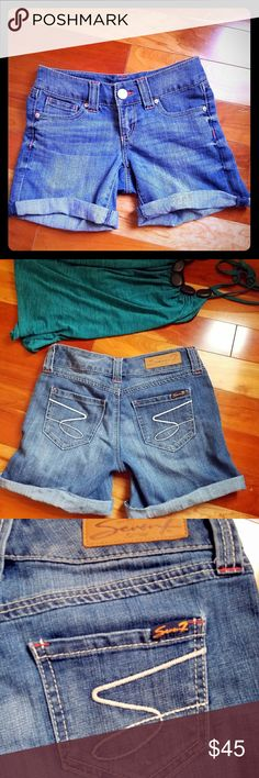 {Seven 7} Jean Shorts Beautiful seven jeans shorts. Show no signs of wear, barely used and in perfect condition. Seven7 Shorts Jean Shorts