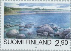 Baltic Sea, Postage Stamps, Finland, Coast, Nature, Painting, Naturaleza, Painting Art, Paintings