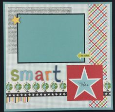 École Scrapbook Page Kit ou Premade pré-coupés avec par ArtsyAlbums