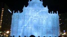 プロジェクションマッピング動画「マカオ 聖ポール天主堂跡」  札幌ぶらぶらダイアリー #SnowFestival  #雪まつり