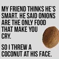 Onions vs. coconuts