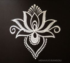 Kolam Design Source by menakasrangoli Easy Rangoli Designs Videos, Rangoli Side Designs, Simple Rangoli Border Designs, Rangoli Simple, Rangoli Designs Latest, Rangoli Patterns, Free Hand Rangoli Design, Small Rangoli Design, Rangoli Designs Diwali