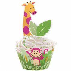Cupcake wraps en prikkers in dieren thema van Wilton.