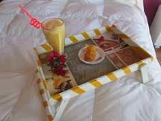 If you want breakfast in bed. Breakfast In Bed, Tray, Breakfast Tray, Decorated Boxes, Trays, Live, Bed And Breakfast, Board