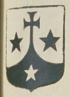 Les religieuses Carmélites de Poitiers. Porte : de sable, mantelé, arondi d'argent, la pointe de sable terminée en une croix pattée de même, accompagnée de trois étoiles, deux aux flancs et une en pointe de l'un en l'autre | N° 327