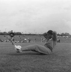 Eusebio, before the 1968 European Cup final
