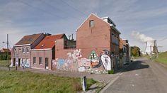 Abandoned village of Doel - #architecture #googlestreetview #googlemaps #googlestreet #belgium #doel #brutalism #modernism