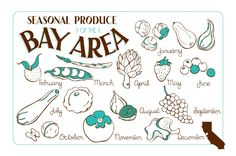 Seasonal Produce of the Bay Area, California  | Illustrated Bites : great site!