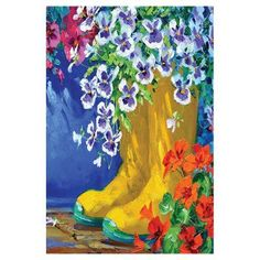 Toland Home Garden Boots and Blossoms Flag - 119994