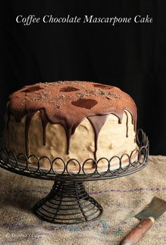 Coffee Chocolate Mascarpone Layered Cake